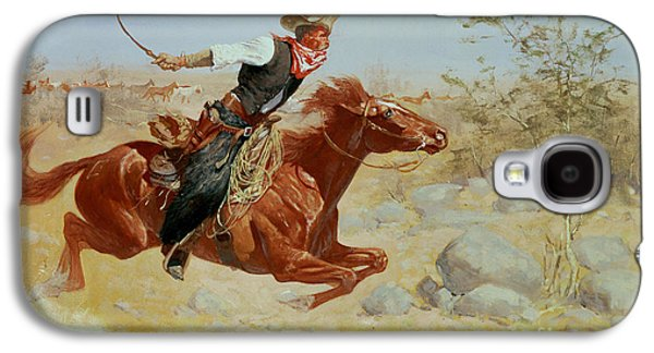Horse Galaxy S4 Case - Galloping Horseman by Frederic Remington