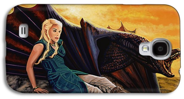 Game Of Thrones Painting Galaxy S4 Case by Paul Meijering