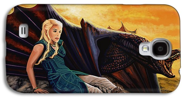Dragon Galaxy S4 Case - Game Of Thrones Painting by Paul Meijering