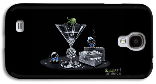 Martini Galaxy S4 Case - Gangsta Martini Livin' Large by Michael Godard