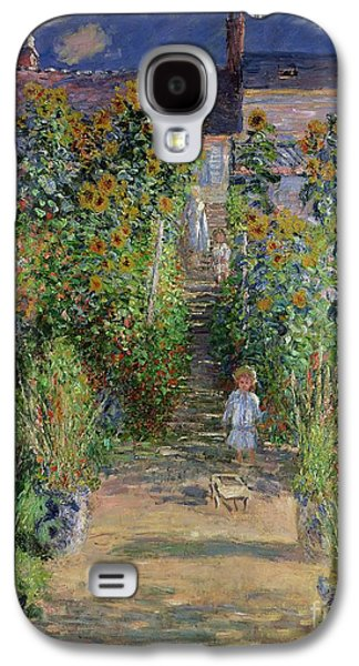 Garden At Vetheuil Galaxy S4 Case by Claude Monet