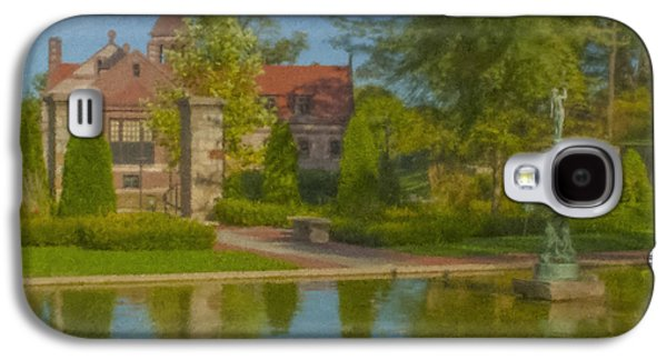 Garden Fountain At Ames Free Library Galaxy S4 Case by Bill McEntee