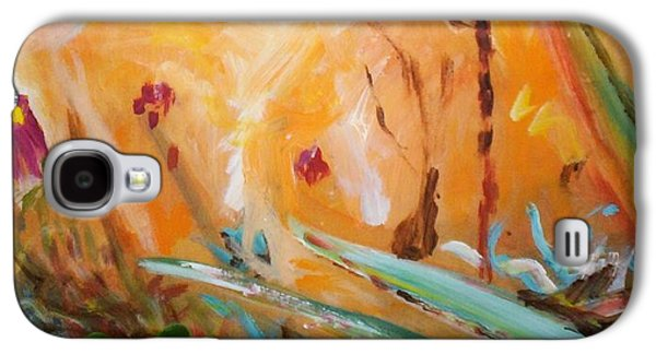 Galaxy S4 Case featuring the painting Garden Moment by Winsome Gunning