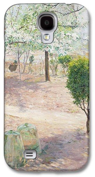 Garden Scene From Grez Galaxy S4 Case