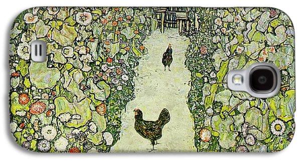 Garden With Chickens Galaxy S4 Case by Gustav Klimt