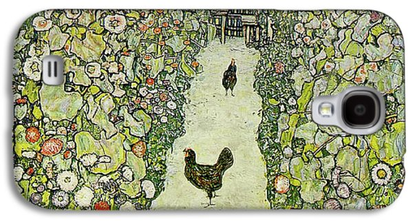 Garden With Chickens Galaxy S4 Case