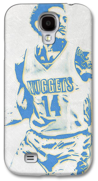 Gary Harris Denver Nuggets Pixel Art Galaxy S4 Case by Joe Hamilton