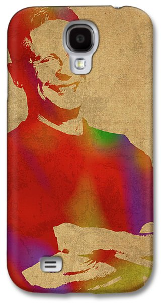 Gary Johnson Libertarian Politician Watercolor Portrait Galaxy S4 Case by Design Turnpike