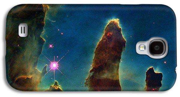 Gas Pillars In The Eagle Nebula Galaxy S4 Case by Nasaesastscij.hester & P.scowen, Asu