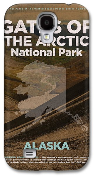 Gates Of The Arctic National Park In Alaska Travel Poster Series Of National Parks Number 20 Galaxy S4 Case by Design Turnpike