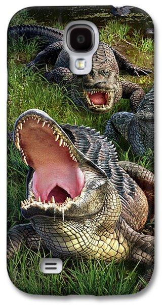 Alligator Galaxy S4 Case - Gator Aid by Jerry LoFaro