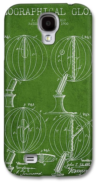 Geaographical Globe Patent From 1900 - Green Galaxy S4 Case by Aged Pixel