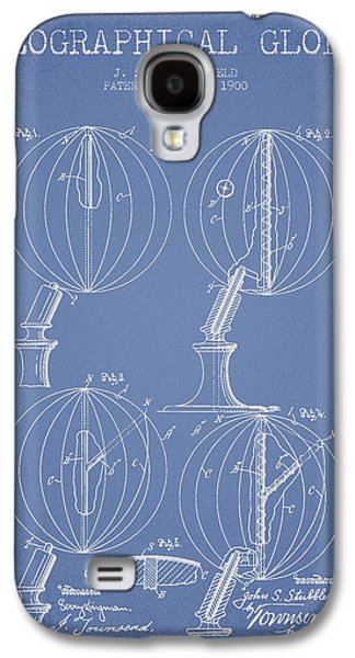 Geaographical Globe Patent From 1900 - Light Blue Galaxy S4 Case by Aged Pixel