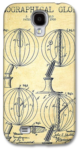 Geaographical Globe Patent From 1900 - Vintage Galaxy S4 Case by Aged Pixel