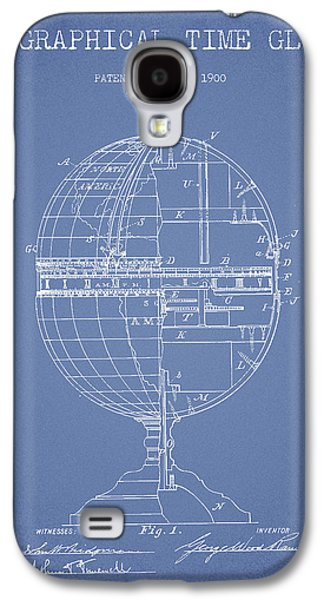 Geaographical Time Globe Patent From 1900 - Light Blue Galaxy S4 Case by Aged Pixel