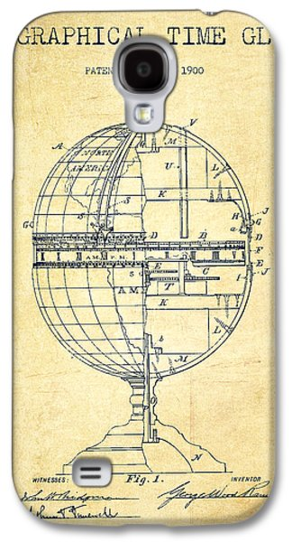 Geaographical Time Globe Patent From 1900 - Vintage Galaxy S4 Case by Aged Pixel