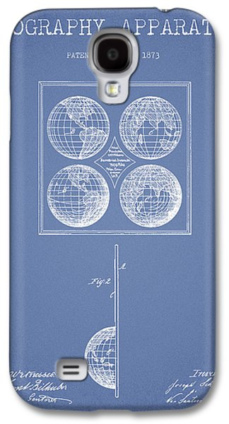 Geaography Apparatus Patent From 1873 - Light Blue Galaxy S4 Case by Aged Pixel