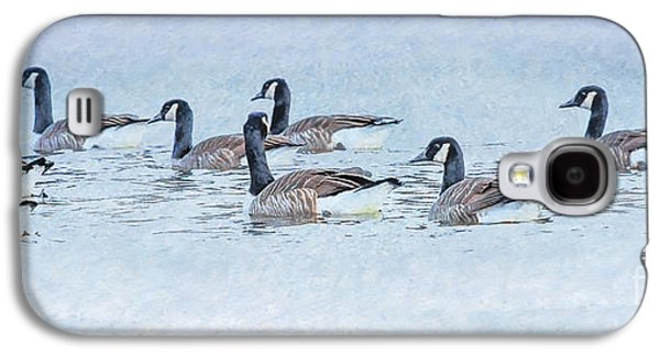 Geese On Pond Galaxy S4 Case