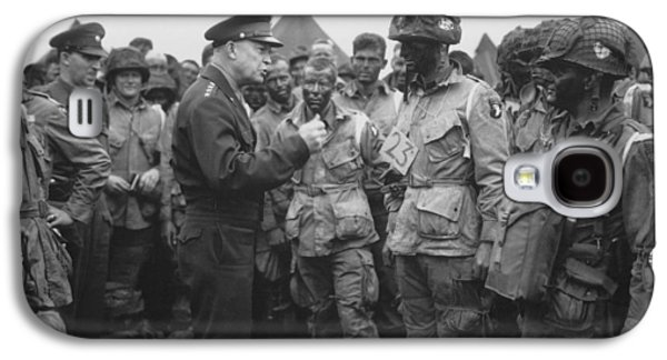General Eisenhower On D-day  Galaxy S4 Case by War Is Hell Store