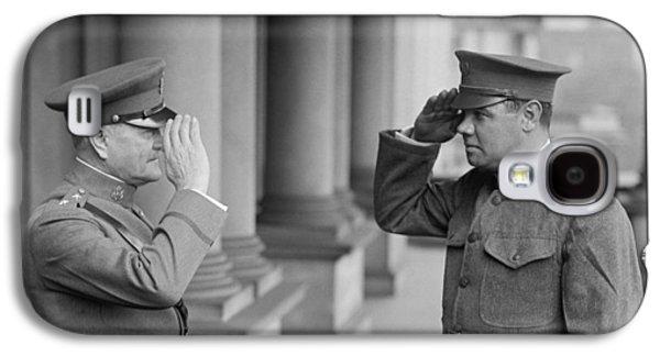 General John Pershing Saluting Babe Ruth Galaxy S4 Case