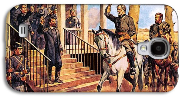 General Lee And His Horse 'traveller' Surrenders To General Grant By Mcconnell Galaxy S4 Case