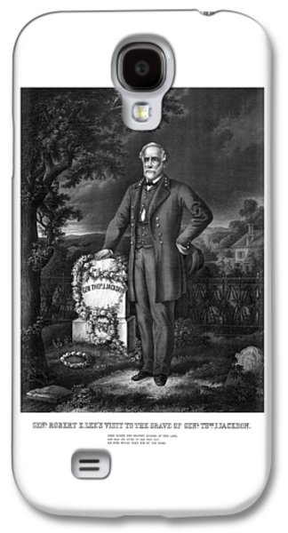 General Lee Visits The Grave Of Stonewall Jackson Galaxy S4 Case by War Is Hell Store