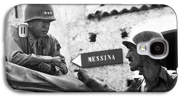 General Patton In Sicily Galaxy S4 Case by War Is Hell Store