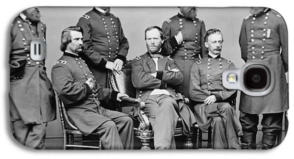 General Sherman And His Staff  Galaxy S4 Case by War Is Hell Store