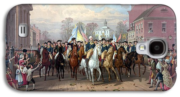 George Washington Galaxy S4 Case - General Washington Enters New York by War Is Hell Store
