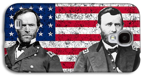 Generals Sherman And Grant  Galaxy S4 Case by War Is Hell Store