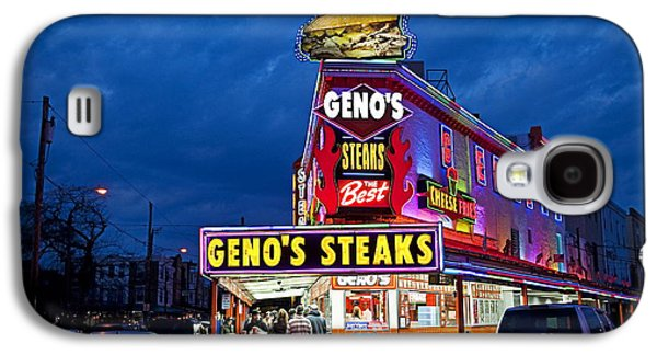 Geno's Steaks South Philly Galaxy S4 Case by John Greim