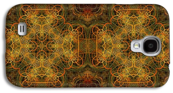 Fractal Pastels Galaxy S4 Cases - Gentle Comes The Breeze Galaxy S4 Case by Gayle Odsather