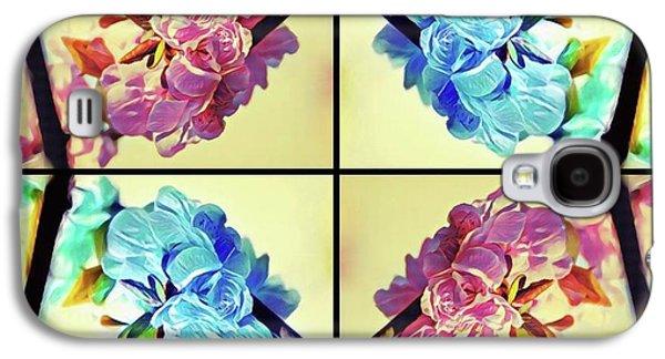 Geometric Cherry Blossoms Galaxy S4 Case