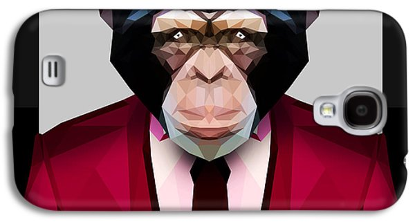 Geometric Chimpanzee Galaxy S4 Case