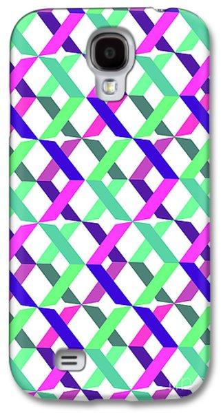 Geometric Crosses Galaxy S4 Case by Louisa Knight