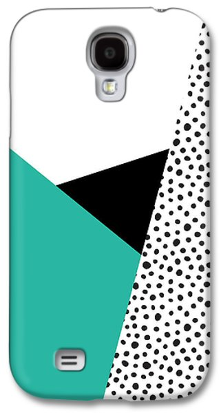 Geometric Modern Triangles With Spots Galaxy S4 Case