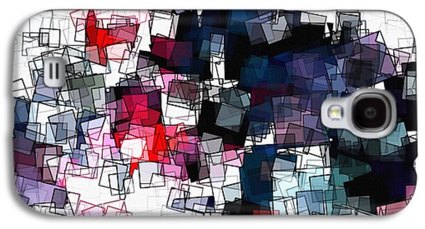 Geometric Skyline / Cityscape Abstract Art Galaxy S4 Case by Ayse Deniz