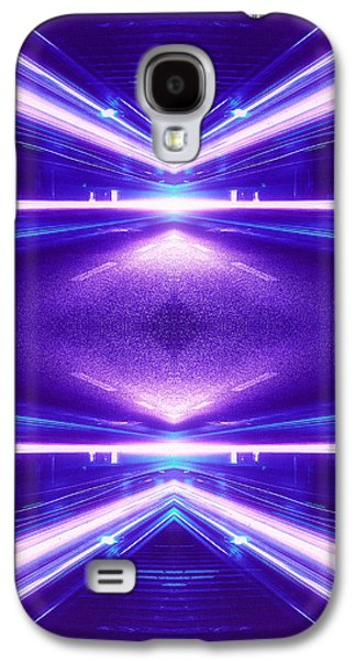 Geometric Street Night Light Pink Purple Neon Edition  Galaxy S4 Case