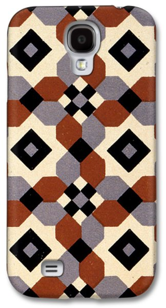 Geometric Textile Design Galaxy S4 Case by English School