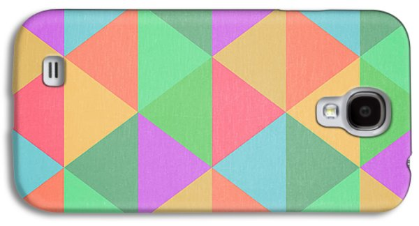 Geometric Triangles Abstract Square Galaxy S4 Case by Edward Fielding