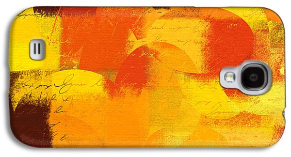 Orange Digital Art Galaxy S4 Cases - Geomix 05 - 01at01 Galaxy S4 Case by Variance Collections