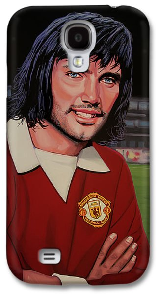 George Best Painting Galaxy S4 Case by Paul Meijering