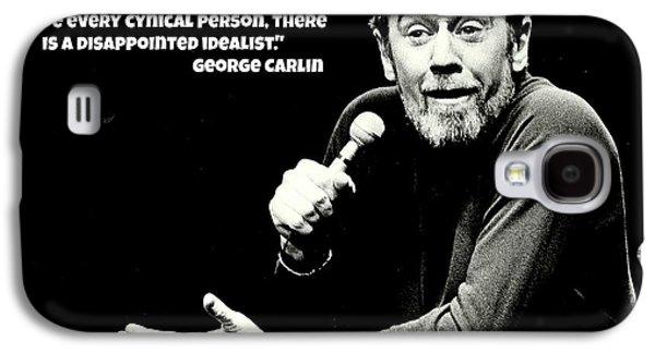George Carlin Art  Galaxy S4 Case by Pd