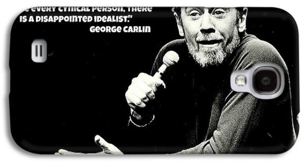 George Carlin Art  Galaxy S4 Case