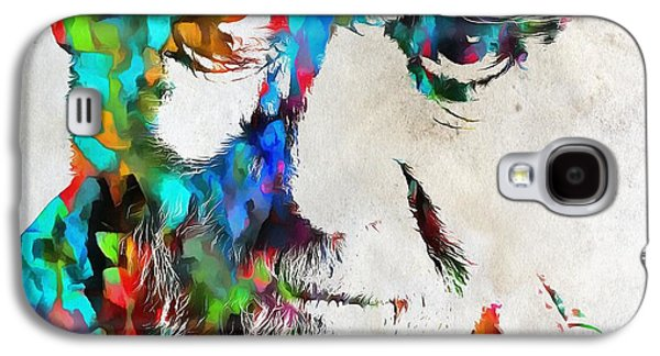 George Carlin Watercolor Abstract Galaxy S4 Case by Dan Sproul