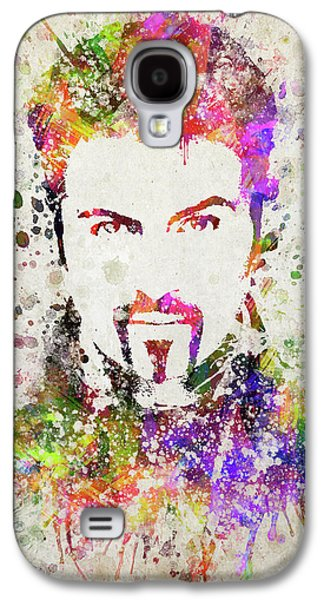 George Michael In Color Galaxy S4 Case by Aged Pixel