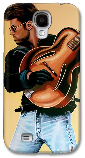 George Michael Painting Galaxy S4 Case by Paul Meijering