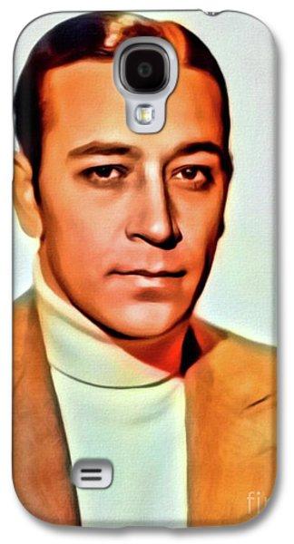 George Raft, Vintage Actor. Digital Art By Mb Galaxy S4 Case