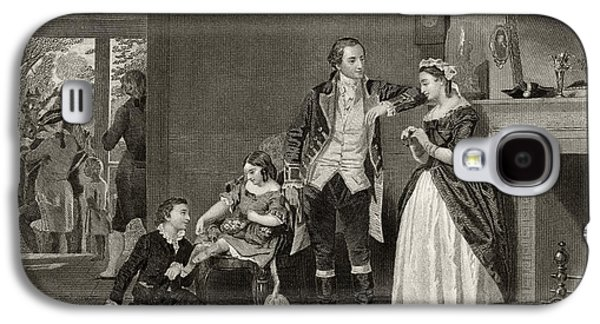 George Washington's First Interview With Mrs Martha Custis Galaxy S4 Case by Alonzo Chappel