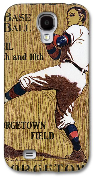 Georgetown Baseball Game Poster Galaxy S4 Case